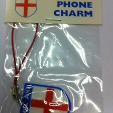 England - St George Cross Flag - Mobile Phone Pendent Charm - world cup football