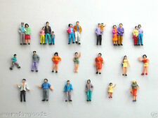1000pcs Model Train 1:87 HO Scale Painted Figure 19style