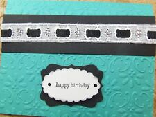 Handmade BIRTHDAY Card EMBOSSED EYELET LACE  Using Stampin UP!