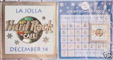Hard Rock Cafe LA JOLLA 2001 Countdown to 2002 December 14th 2001 PIN on CARD