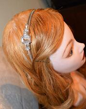 Henri Bendel New York Crystal Headband Tiara Silver
