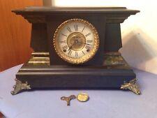 Rare Antique Ingraham Lancet Model Mantle Clock Egyptian Revival