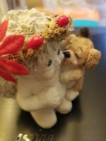 Dreamsicles figurine collectable, cherub love my puppy.