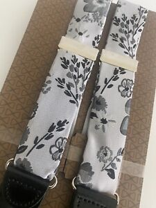 Trafalgar Suspenders Black Grey Flowers Braces Xtra Buttons Dapper Bespoke NEW
