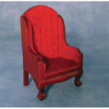 Dolls House Armchair Traditional Style Fireside Chair in 12th Scale