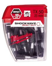 Milwaukee TX50 Torx Shockwave 25mm impacto CERTIFICADO 4932352710 x 25pcs