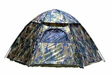 NEW Texsport Hexagon Hunting Camping Camo 3 Person Waterproof Floor Tent Outdoor