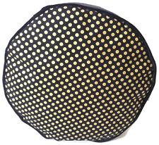 HANDMADE POUF-POUF-ORO METALLIZZATO Puntini-Nero-Floor Cushion Pouf A Sacco