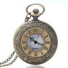 Antique Pocket Watch Chains Men Women Quartz Analog Watch Roman Numeral Necklace