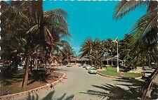 Postcard Montego Bay Jamaica Half Moon Hotel pm 1967 old cars