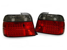 BMW E36 3DR HATCHBACK 3D COMPACT EURO RED SMOKE LENS LED TAILLIGHTS REAR LAMPS