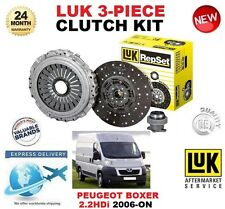 Para PEUGEOT BOXER 2.2 HDI 120 LUK clutch kit 2006-ON 120 BHP 3 Pieza OE Quality