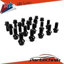 20pcs BLACK Wheel Lug Bolts Nuts M14x1.5 for Mercedes W163 W164 W211 W212 W219