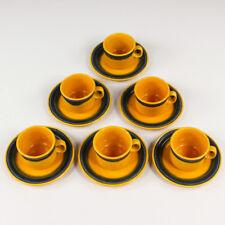 6 caffè tè tazze Antonia Campi servizio LAVENO RICHARD GINORI CERAMICA ITALY