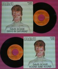 LP 45 7'' DAVID BOWIE Drive in saturday Round and round 1973 italy no cd mc dvd