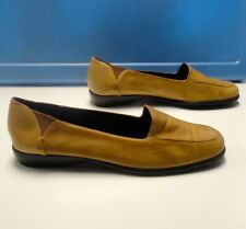 aeec538abe9 COLE HAAN CITY Brown Solid Leather Slip On Square Toe Loafers Size 9.5 B4763