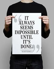 Nelson Mandela Quote  print gift poster literary gift book motivation