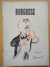 1954-IL BORGHESE-Direttore LEO LONGANESI-Anno V, Numero 15