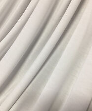 Bamboo Spandex Jersey Knit Fabric  High End Fabric 3 YARDS LENGTH WHITE 10 oz