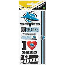 Cronulla Sharks NRL Temporary TATTOO Sheet individual tattoos Christmas Gift