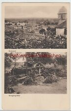 (85553) AK Bréménil, Frankr., Kirche, Soldatengräber 1915