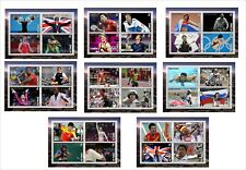 2012 OLYMPICS gold medals winners 8 SOUVENIR SHEETS MNH UNPERFORATED SPORTS