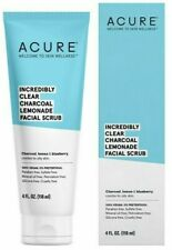 Acure Incredibly Clear Charcoal Lemonade Facial Scrub Combo to Oily Skin 4oz