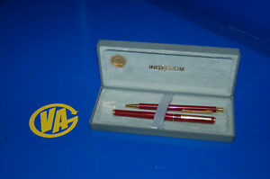 Pen And Pen Inoxcrom Gold Electroplated 23,6 Kts -notes The Photos