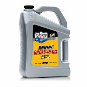 Lucas Oil 10631 SAE 30 High Zinc Engine Break-In Oils - 5 Quarts