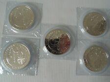 2008 1 oz Fine Silver UK Britannia £2 Pound bullion Coins x5  FIVE coins