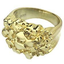 Jewel Tie 925 Sterling Silver Mens Nugget Ring