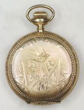 Antique UNITED STATES WATCH CO. Pocket Watch. 14K Gold Filled PHILADELPHIA CASE