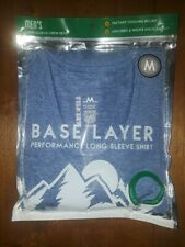 Blue Star Mens Base Layer, Performance Long Sleeve Shirt, Size M!!!