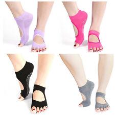 Women 5 Toes Sport Yoga Pilates Toeless Grip Non-Slip Dance Ballet Dancing Socks