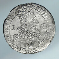 1623 POLAND King Sigismund III Antique Silver ORT 10 Groszy 1/4 Thlr Coin i85037