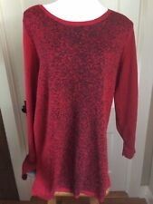 Apt 9 Women's Pullover Tunic Sweater Size XXL Metallic Red NWT