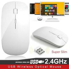 2.4GHz Wireless Mouse Silent Button Ultra Thin USB Optical Mice For PC Laptop