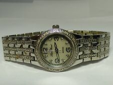 LUCIEN PICCARD WOMEN'S STAINLESS STEEL WATCH WITH CRYSTAL ACCENTS