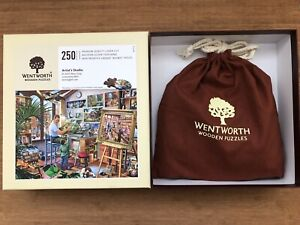 Wentworth Wooden Jigsaw Puzzle - Artist's Studio - 250 Pieces 100% Complete!