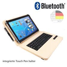 Bluetooth Qwertz Tablet Tasche - Lenovo TAB 2 A10 30L LTE Tastatur Beige 10.1