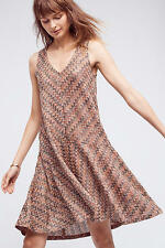 Anthropologie Brown Chevron Westwater Knit Dress BY MAEVE size 14 XL NWT $138