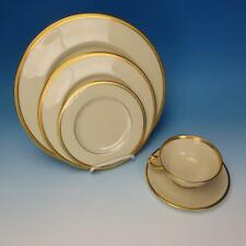 Lenox China - Tuxedo/Mansfield - Gold Stamp - Place Setting - Plates/Cup/Saucer