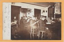 Real Photo Postcard RPPC - Boy Students in Reading Room Dobbs Ferry New York