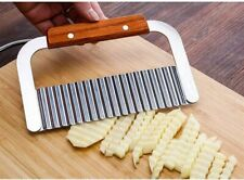 Stainless Steel Potato Chip Salad Vegetable Crinkle Cutter Wavy Cutter Tool UK