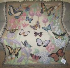 New Butterfly in Flowers Afghan Throw Blanket Monarch Insect Flight Wings GIFT