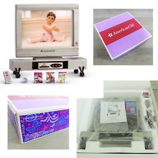 NEW American Girl Doll ENTERTAINMENT SET On Wheels Flat Screen TV DVD Remote +