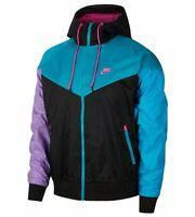 Nike Sportswear Jacket Hooded Full Zip Size XL Black Pink Purple 90s Windbreaker