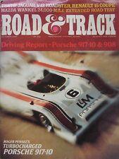 Road & Track 10/1972 featuring Jaguar E-type road test, Porsche 917, Renault