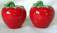 Strawberry Salt and Pepper Shakers Large Ceramic w/Stoppers Rosenthal Netter NEW