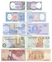 Egypt 5 + 10 + 25 + 50 Piastres + 1 Pound Set of 5 Banknotes 5 PCS UNC